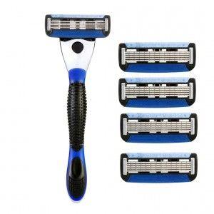 Buy Spruce Shave Club 5X Shave Set (1 Razor + 4 Cartridges) - Nykaa