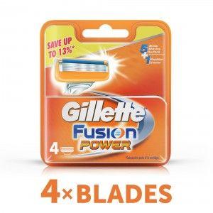Buy Gillette Fusion Power shaving Razor Blades (Cartridge) 4s pack - Nykaa