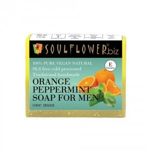 Buy Soulflower Orange Peppermint Soap For Men - Nykaa