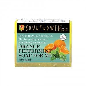 Buy Soulflower Orange Peppermint Soap For Men - Nykaa