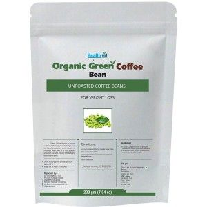 Buy HealthVit Organic Green Coffee Beans For Weight Loss - Nykaa