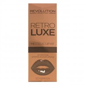 Buy Makeup Revolution Retro Luxe Metallic Lip Kit - Nykaa