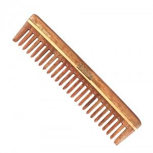 Buy Roots Rosewood Wide Teeth Comb for Wavy/Curly Hair 2103 - Nykaa