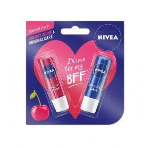 Buy Nivea Fruity Shine Cherry Lip Care + Free Original Lip Care - Nykaa