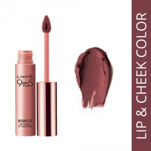 Buy Lakme 9 to 5 Weightless Matte Mousse Lip & Cheek Color - Nykaa
