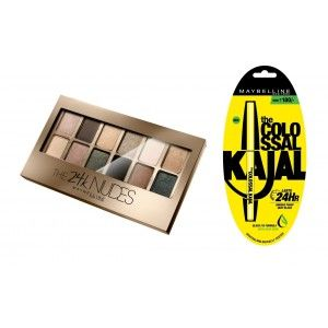 Buy Maybelline New York The 24K Nudes Palette + Free Colossal Kajal - Nykaa