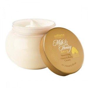 Buy Oriflame Milk and Honey Gold Nourishing Hand & Body Cream - Nykaa