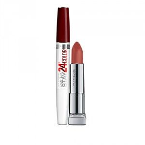 Buy Maybelline New York Superstay 24 Color 2 Step Lipstick - 005 Everlasting Wine + Color Sensational Powder Matte Lipstick - Make Me Blush - Nykaa