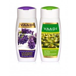Buy Vaadi Herbals Lavender Shampoo With Olive Conditioner - Nykaa