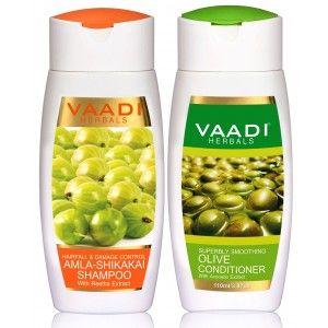 Buy Vaadi Herbals Amla Shikakai Shampoo - Hairfall & Damage Control With Olive Conditioner - Nykaa
