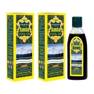 Buy Vaadi Herbals Value Pack Of 2 Amla Cool Oil With Brahmi & Amla Extract - Nykaa