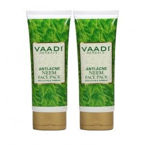 Buy Vaadi Harble Value Pack of 2 Anti-Acne Neem Face Pack with Clove & Turmeric - Nykaa