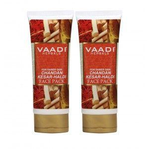 Buy Vaadi Herbals Value Pack of 2 Chandan Kesar Haldi Fairness Face Pack - Nykaa