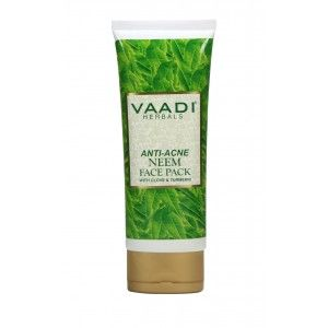 Buy Vaadi Herbals Anti-Acne Neem Face Pack with Clove & Turmeric - Nykaa