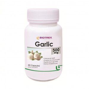 Buy Biotrex Garlic 500mg 60 Capsules - Nykaa