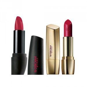 Buy Deborah Milano Red Lipstick - 31 Pink Coral + Atomic Red Mat Lipstick - 22 Mauve Fuchsia - Nykaa