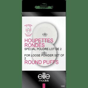 Buy Elite Models (France) Makeup Round Puff Sponge for Loose Powder (2 pcs) - Nykaa