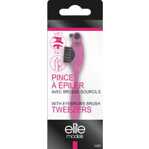 Buy Elite Models (France) 2 in 1 Tweezer Plucker with Eyebrows Brush - Nykaa