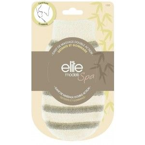 Buy Elite Models (France) Spa Dual Action Loofah Body Scrubber Glove - Nykaa