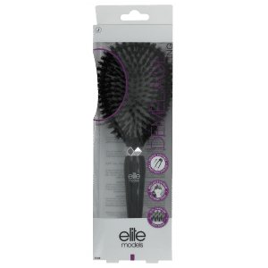 Buy Elite Models (France) 100% Boar Bristles Flat Cushion Hair Brush - Black - Nykaa