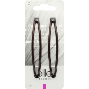 Buy Elite Models (France) Fashion Barrette Hair Clips (2 pc Set) - Brown - Nykaa