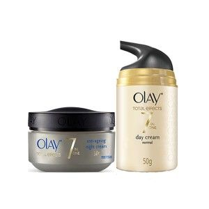 Buy Olay Total Effects 7 In One Anti-Ageing Day and Night Regime for Normal Skin - Nykaa