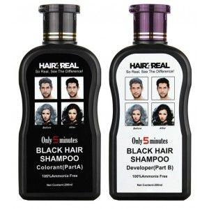 Buy Hair4Real Natural Black Hair Shampoo Bottle  - Nykaa