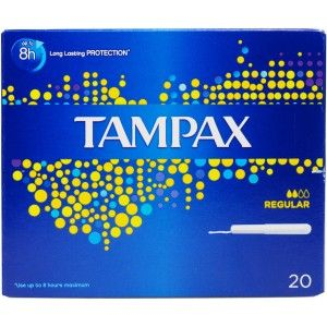Buy Tampax Regular Tampons With Carborad Applicator Pack of 20 - Nykaa