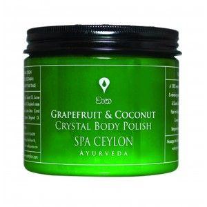 Buy Spa Ceylon Luxury Ayurveda Grapefruit & Coconut Crystal Body Polish - Nykaa