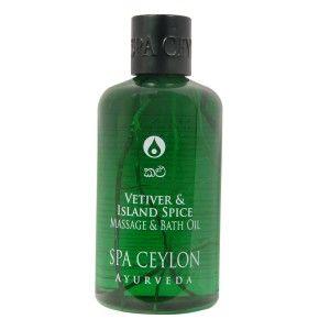 Buy Spa Ceylon Luxury Ayurveda Vetiver & Island Spice Massage & Bath Oil - Nykaa