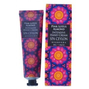 Buy Spa Ceylon Luxury Ayurveda Pink Lotus Almond Intensive Hand Cream - Nykaa