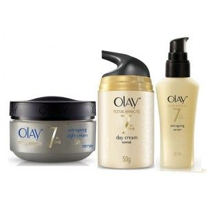 Buy Olay Total Effects 7 In One Anti-Ageing Night Firming Cream + Day/Normal Cream + Serum - Nykaa