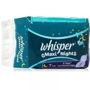 Buy Whisper Maxi Overnight Sanitary Pads XL Wings 7 pc Pack - Nykaa