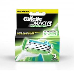 Buy Gillete Mach3 Turbo sensitive cartridge - 2 - Nykaa