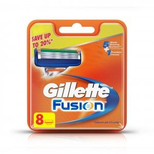 Buy Gillette Fusion Manual Shaving Razor Blades (2 cartridge) 8 Pack - Nykaa