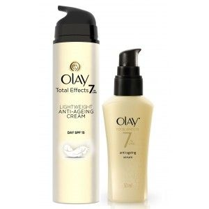 Buy Olay Total Effects Light Weight SPF 15 Day Cream Serum Regime II - Nykaa