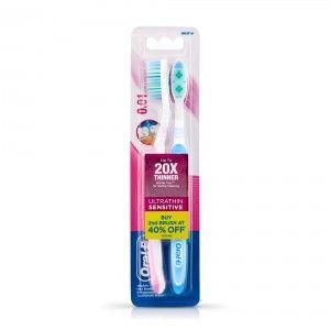 Buy Oral-B Ultrathin Sensitive Toothbrush Buy 2 Get 1 Free - Nykaa
