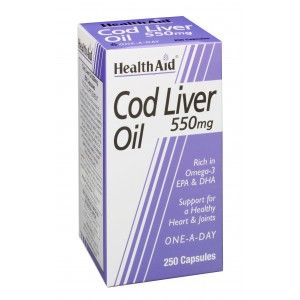 Buy HealthAid Cod Liver Oil 550mg - 250 Capsules - Nykaa