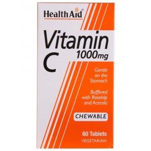 Buy HealthAid Vitamin C 1000mg (Orange) 60 Chewable Tablets - Nykaa