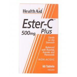 Buy HealthAid Ester-C Plus 500mg - 60 Tablets - Nykaa