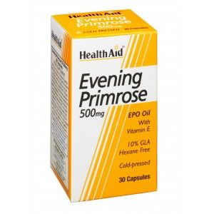Buy HealthAid Evening Primrose Oil 500mg With Vitamin E - 30 Capsules - Nykaa