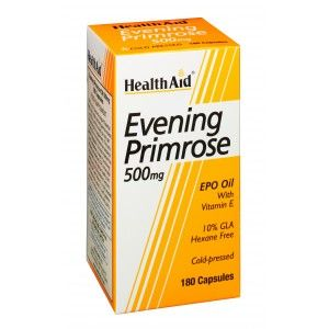 Buy HealthAid Evening Primrose Oil 500mg With Vitamin E - 180 Capsules - Nykaa