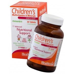 Buy HealthAid Childrens MultiVitamins And Minerals - 30 Chewable Tablets - Nykaa