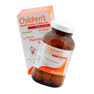 Buy HealthAid Childrens MultiVitamins And Minerals - 90 Chewable Tablets - Nykaa