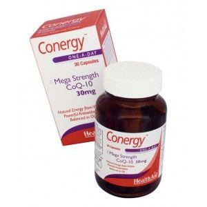 Buy HealthAid Conergy Mega Strength CoQ-10 30mg - Nykaa