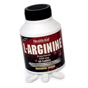 Buy HealthAid L-Arginine 500mg - Free Form - Nykaa
