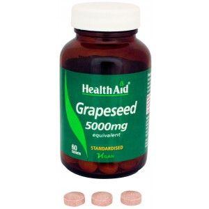 Buy HealthAid Grapeseed Extract 5000mg - Equivalent - Nykaa