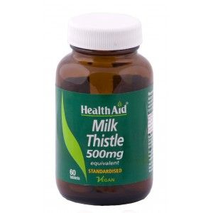 Buy HealthAid Milk Thistle 500mg - Equivalent - 60 Tablets - Nykaa