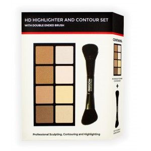 Buy Freedom HD Highlighter And Contour Set With Double Ended Brush - Nykaa