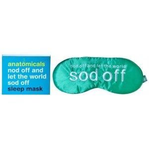 Buy Anatomicals Silk Sleep Mask - Sod Off - Nykaa